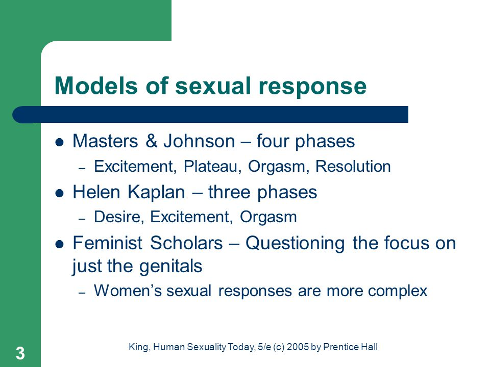 Models of sexual response