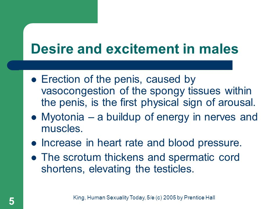 Desire and excitement in males