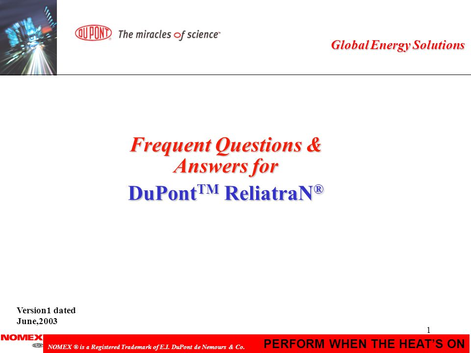 Frequent Questions & Answers for