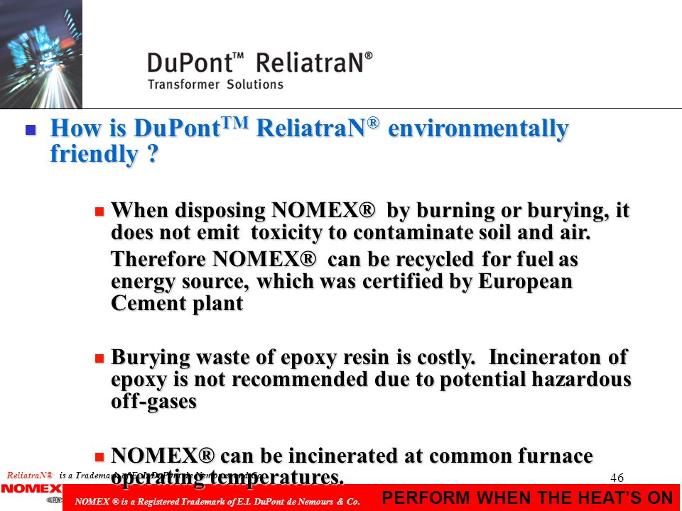 How is DuPontTM ReliatraN® environmentally friendly