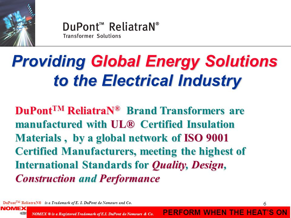Providing Global Energy Solutions to the Electrical Industry
