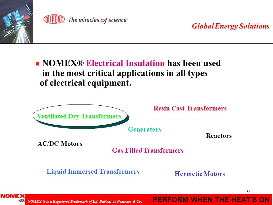 NOMEX® Electrical Insulation has been used