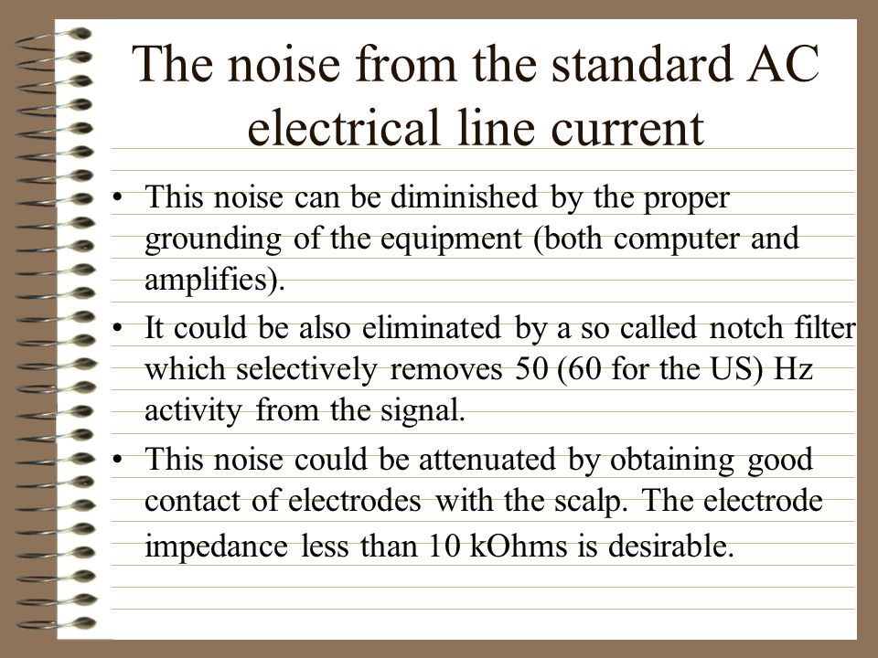 The noise from the standard AC electrical line current