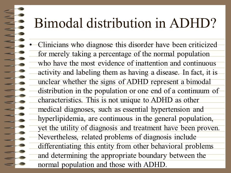 Bimodal distribution in ADHD