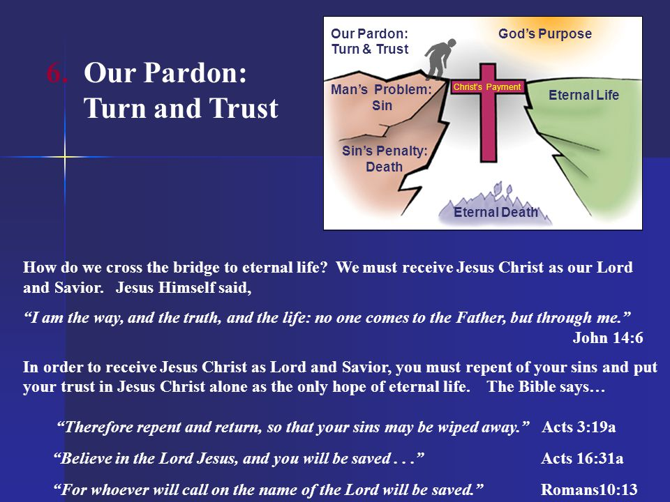 6. Our Pardon: Turn and Trust
