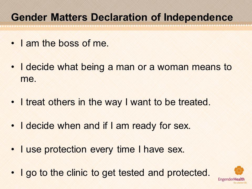 Gender Matters Declaration of Independence