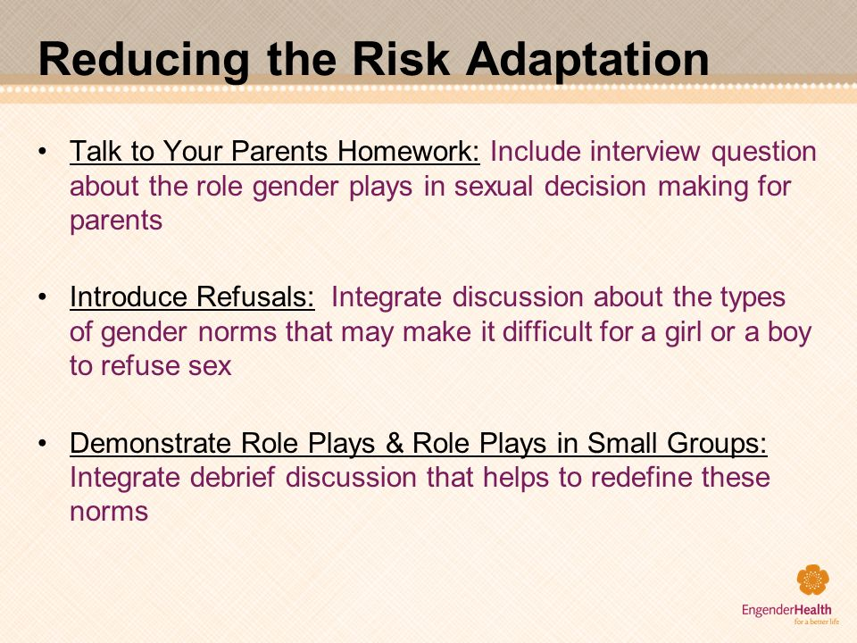Reducing the Risk Adaptation