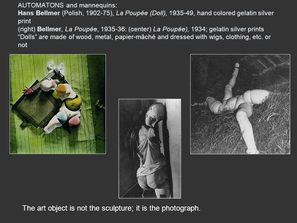 The art object is not the sculpture; it is the photograph.