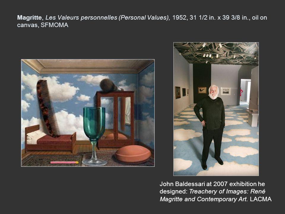 Magritte, Les Valeurs personnelles (Personal Values), 1952, 31 1/2 in