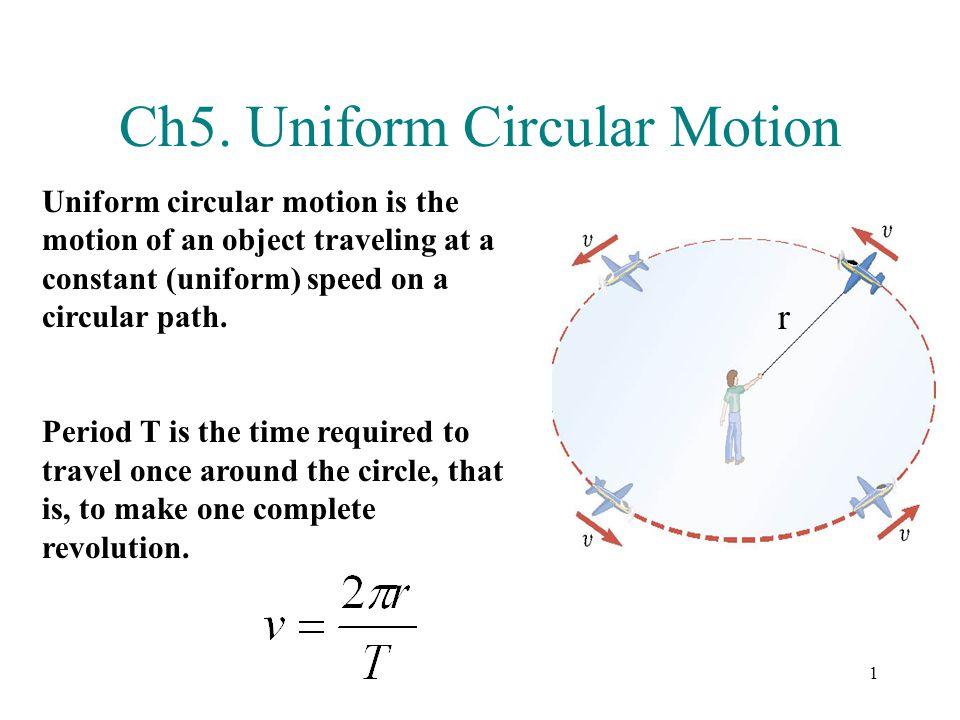 Ch5. Uniform Circular Motion