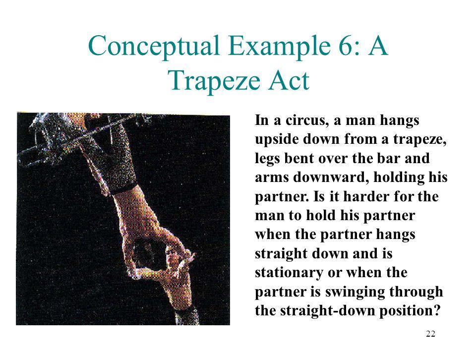 Conceptual Example 6: A Trapeze Act