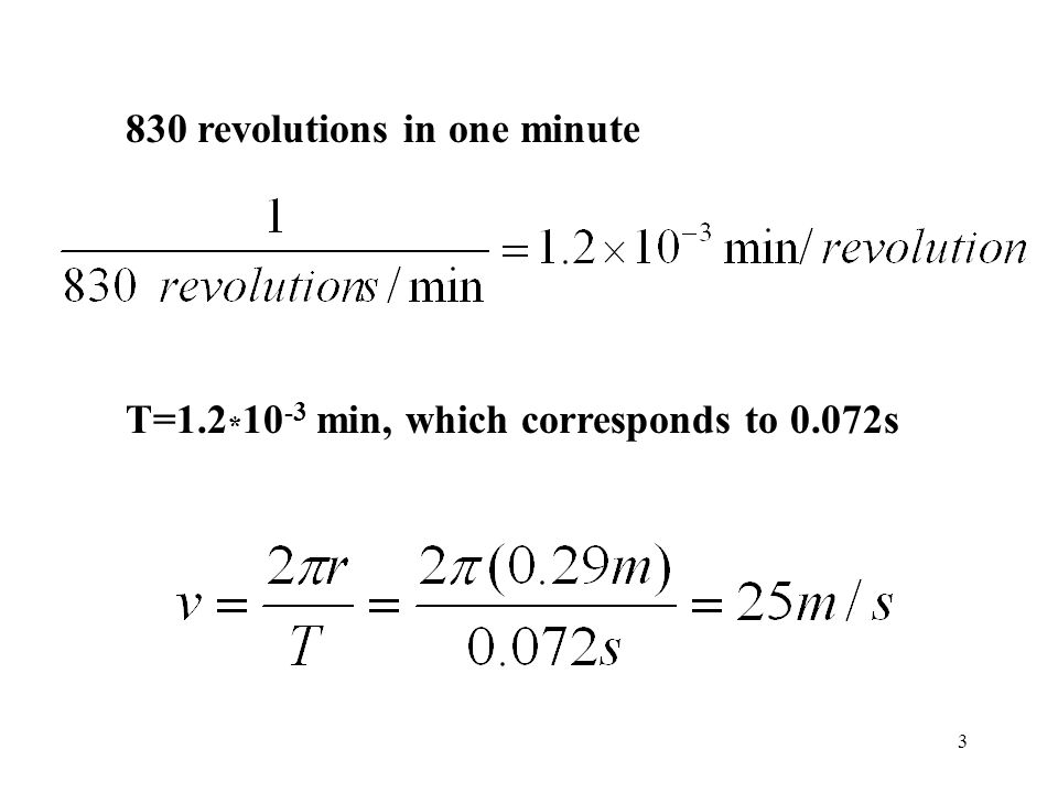 830 revolutions in one minute