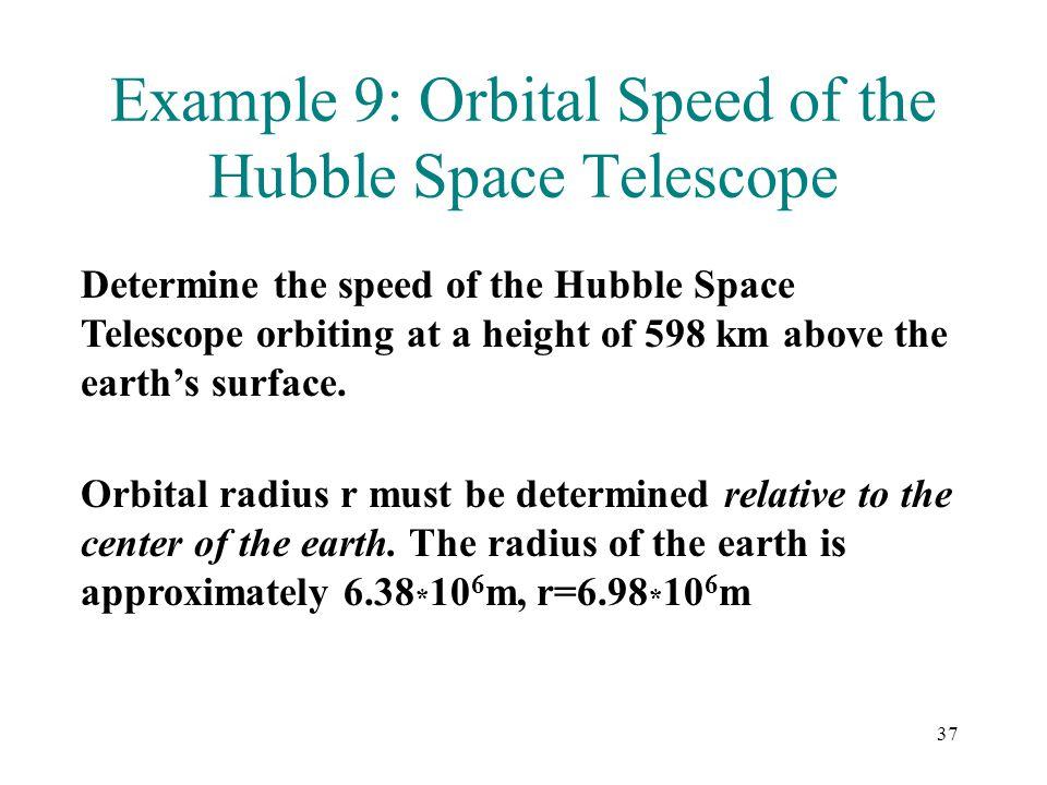 Example 9: Orbital Speed of the Hubble Space Telescope