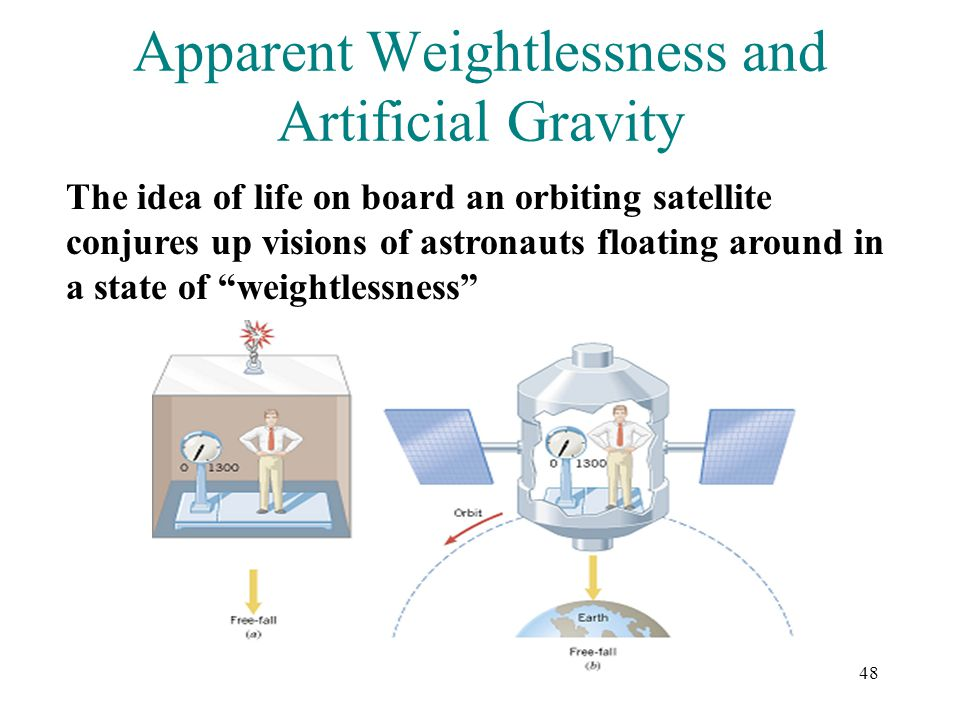Apparent Weightlessness and Artificial Gravity