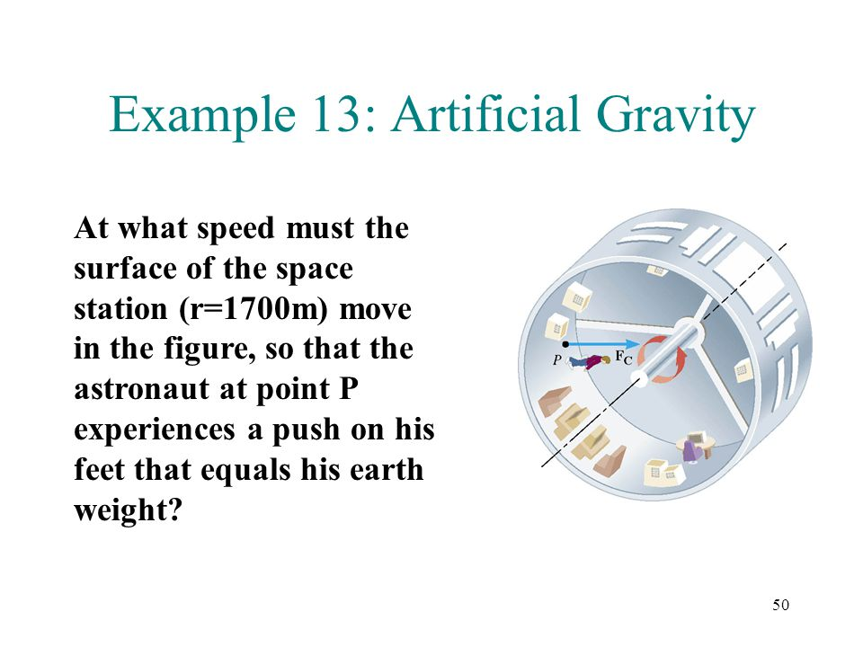 Example 13: Artificial Gravity