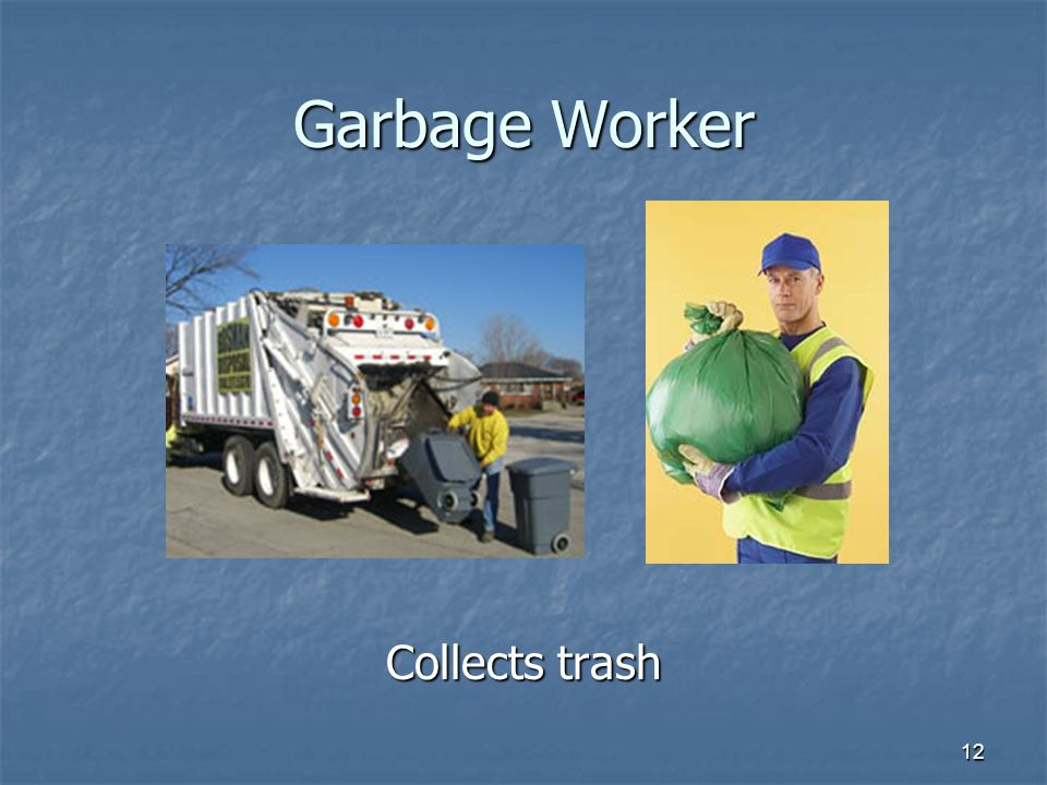 Garbage Worker Collects trash