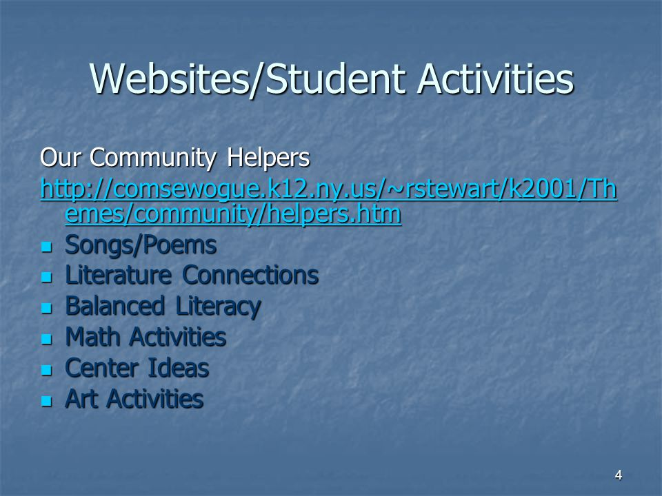Websites/Student Activities