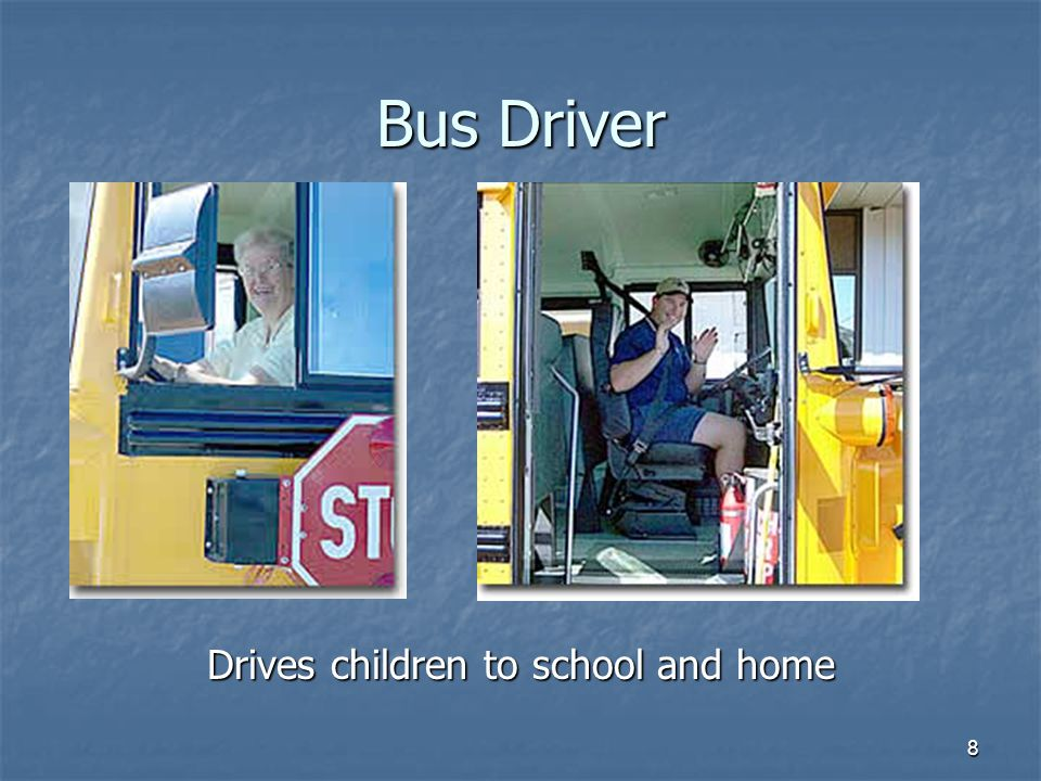 Drives children to school and home