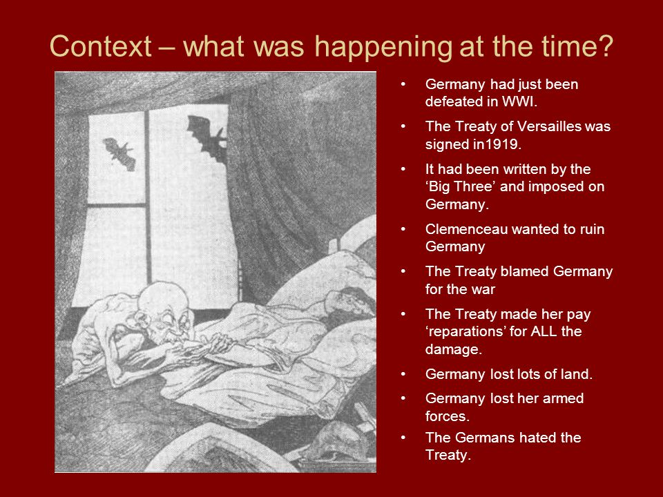 Context – what was happening at the time