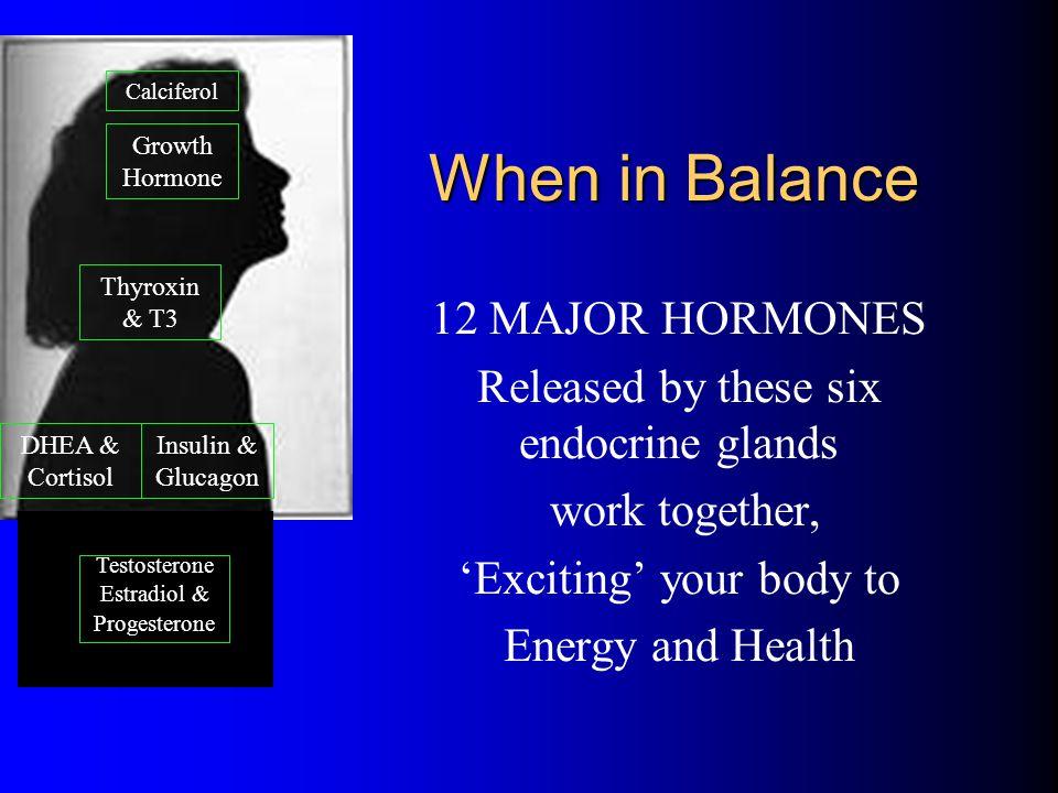 When in Balance 12 MAJOR HORMONES