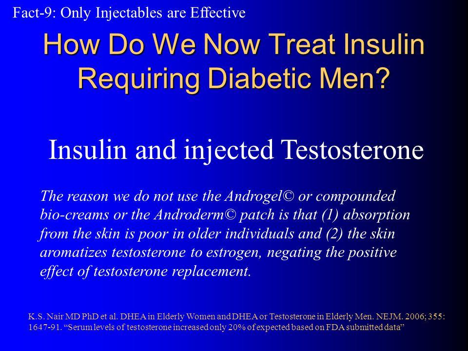 How Do We Now Treat Insulin Requiring Diabetic Men