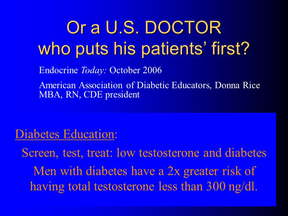 Or a U.S. DOCTOR who puts his patients' first