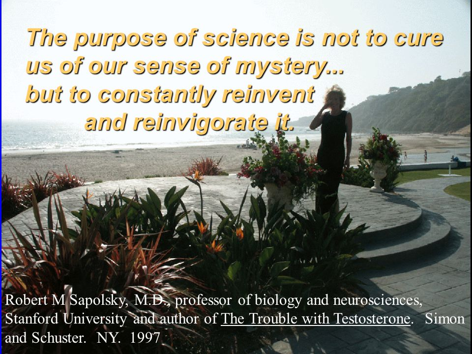 The purpose of science is not to cure us of our sense of mystery