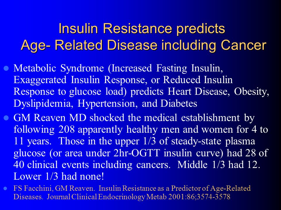 Insulin Resistance predicts Age- Related Disease including Cancer