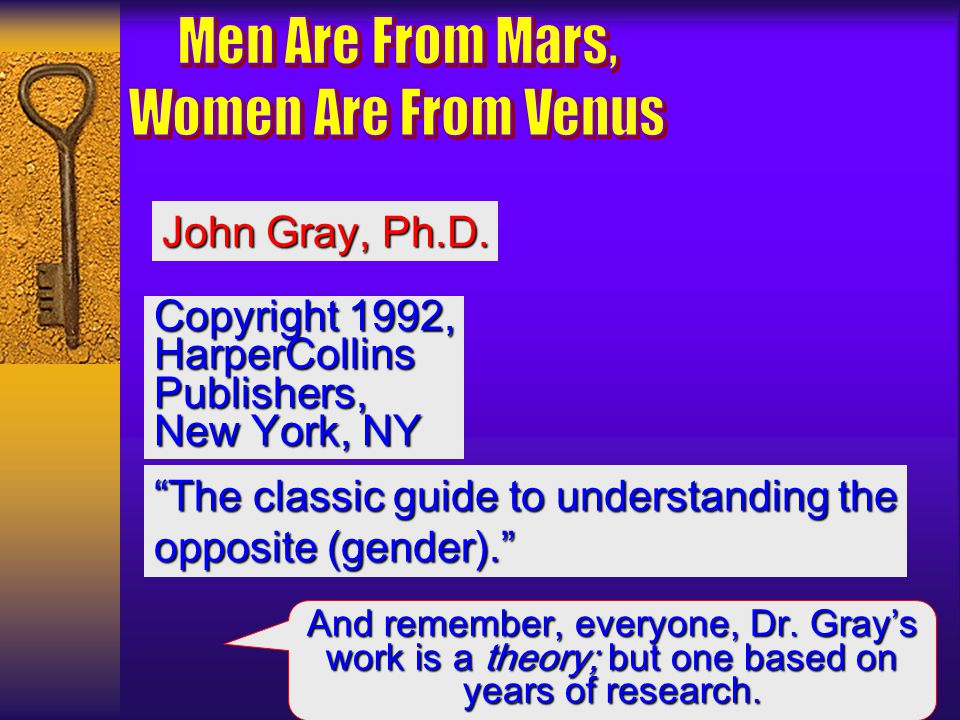 Men Are From Mars, Women Are From Venus John Gray, Ph.D.