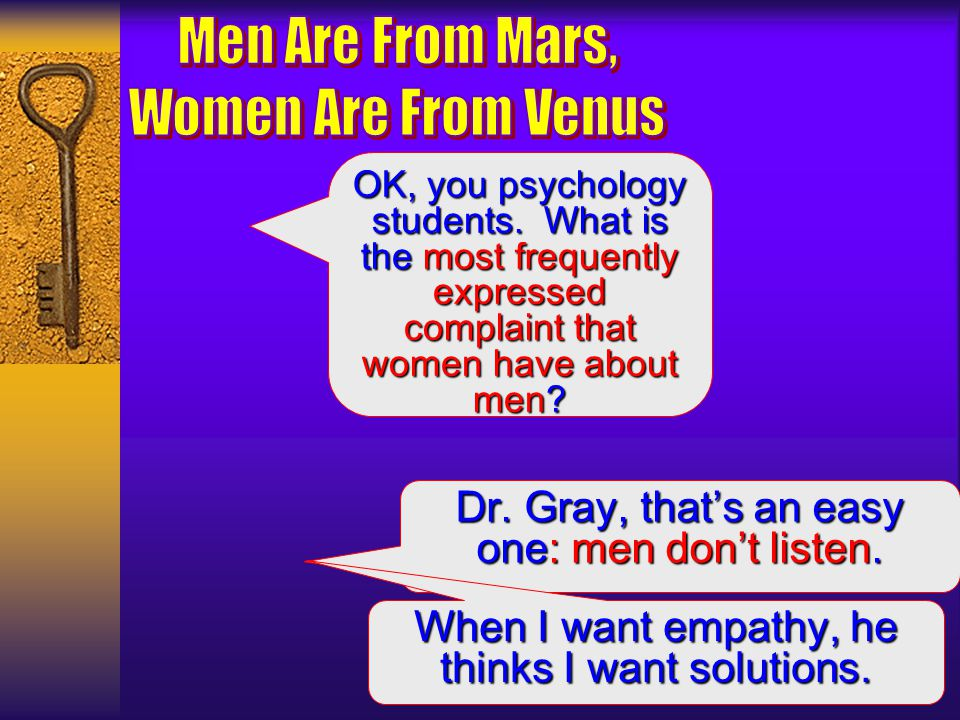 "men are from mars and women are from venus essay Men are from mars and women are from venus discussion question 1 it is said that, ""men are from mars and women are from venus"" using the south university online."