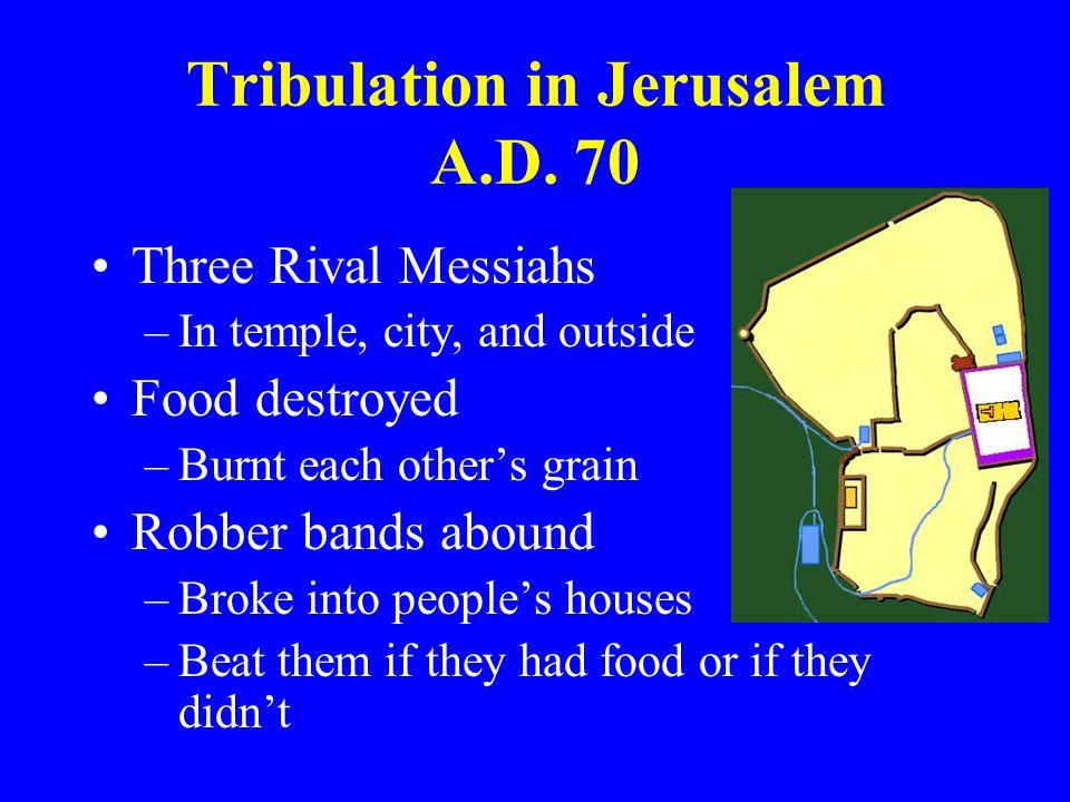 Tribulation in Jerusalem A.D. 70