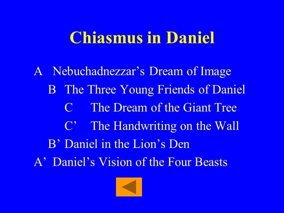 Chiasmus in Daniel A Nebuchadnezzar's Dream of Image
