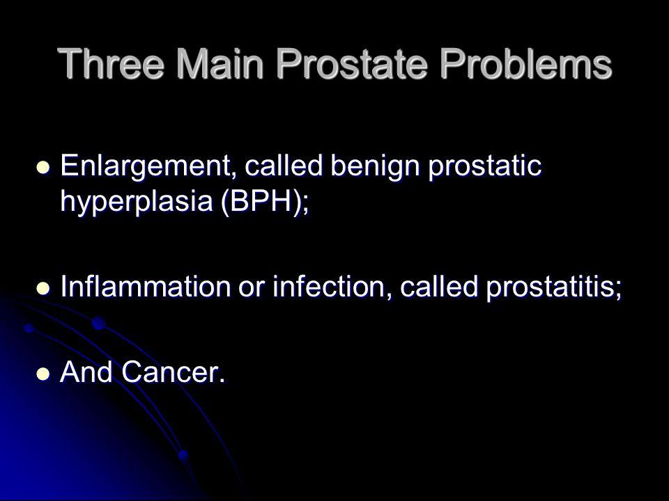 Three Main Prostate Problems