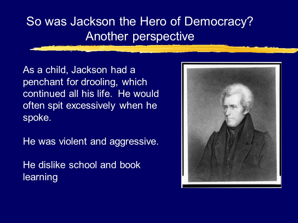 So was Jackson the Hero of Democracy Another perspective