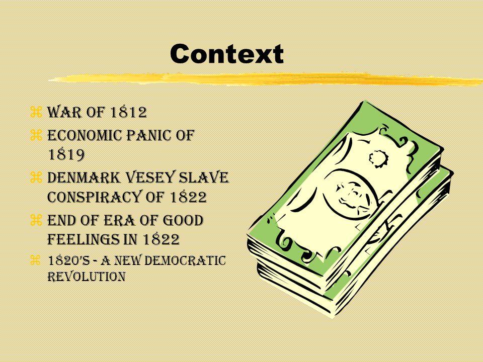 Context War of 1812 Economic Panic of 1819