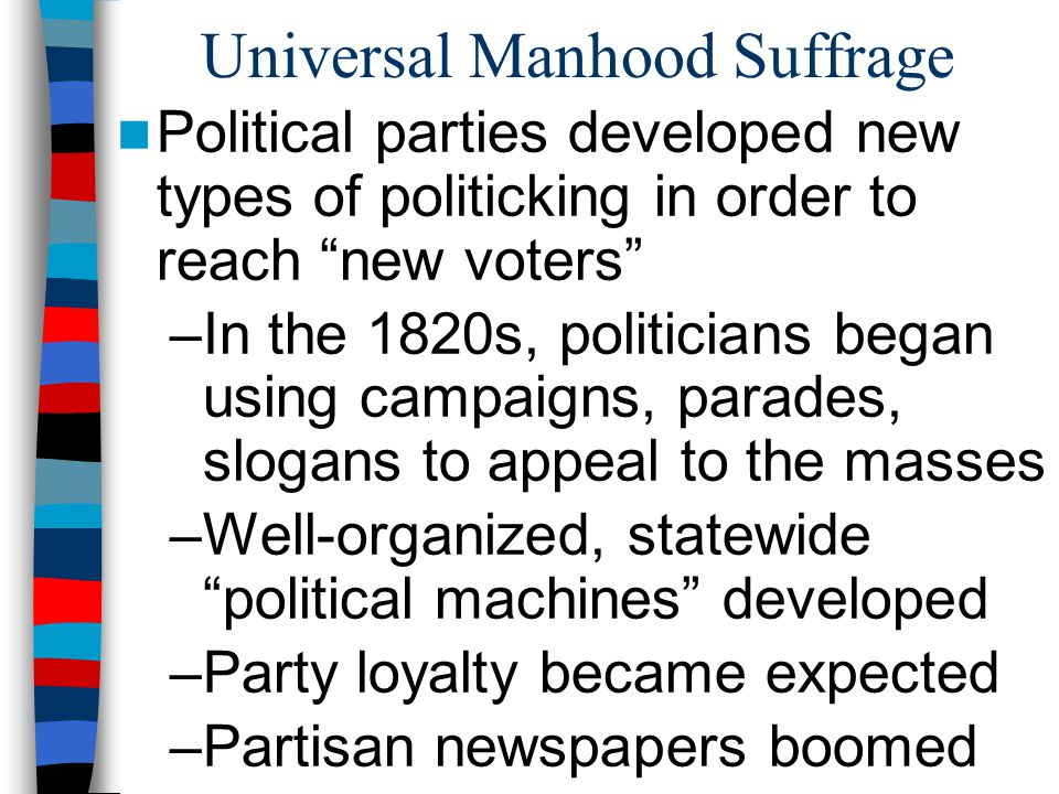 Universal Manhood Suffrage