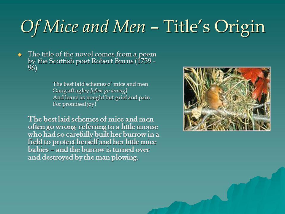 Of Mice and Men – Title's Origin