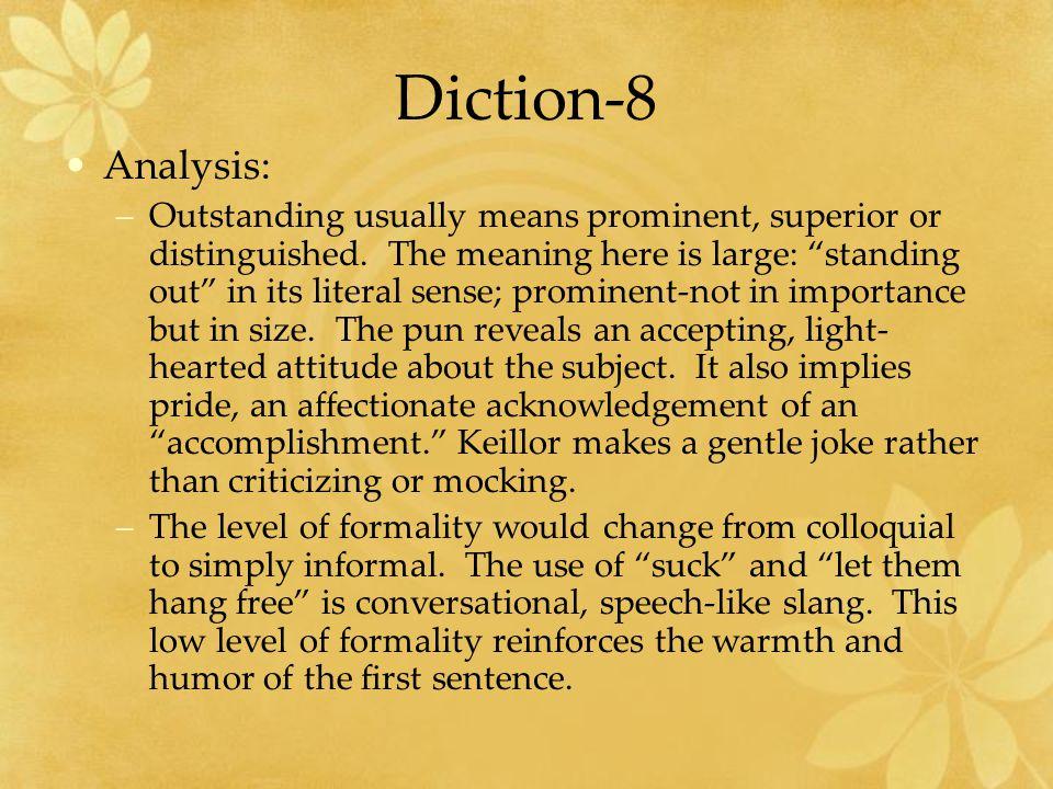 Diction-8 Analysis: