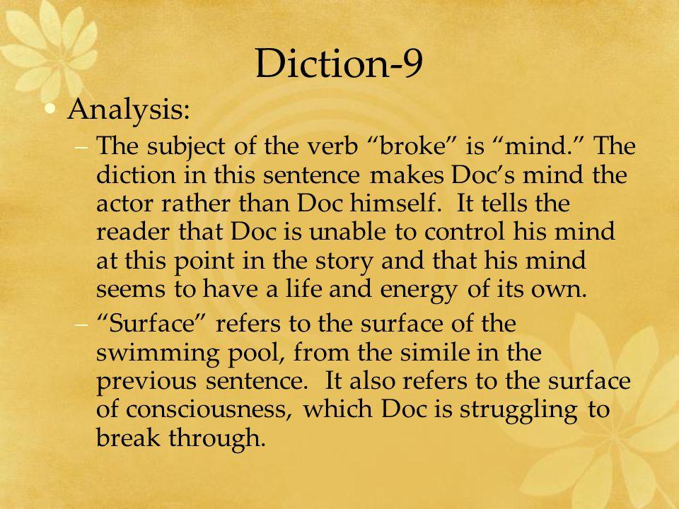 Diction-9 Analysis: