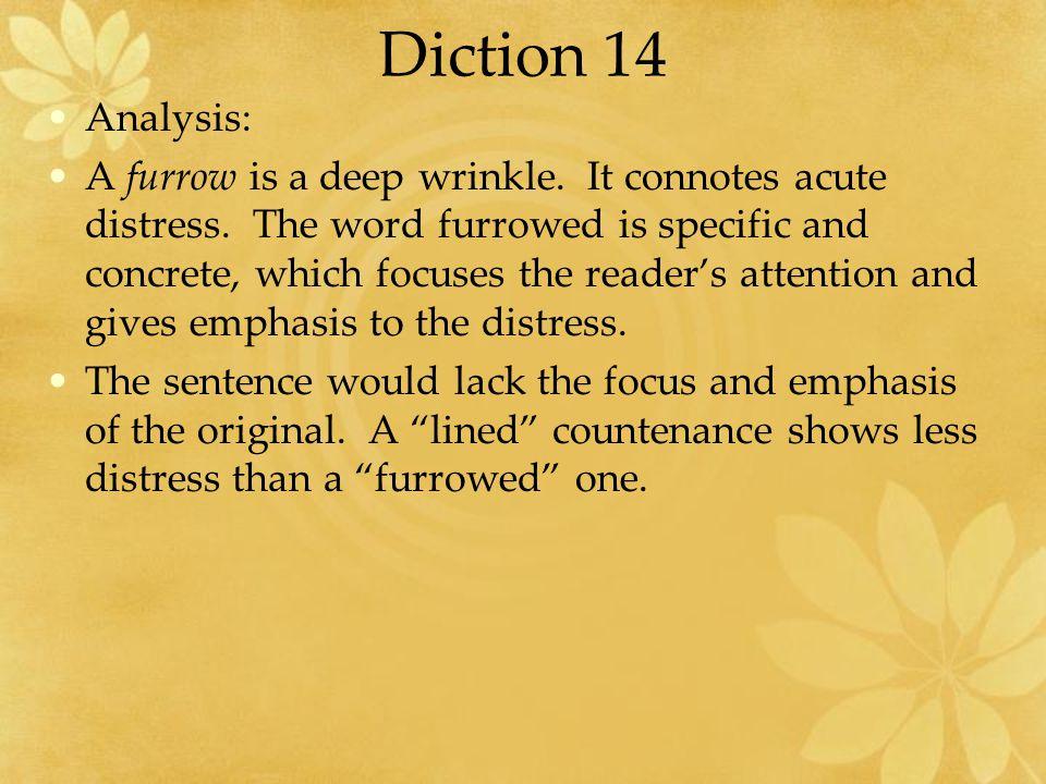 Diction 14 Analysis:
