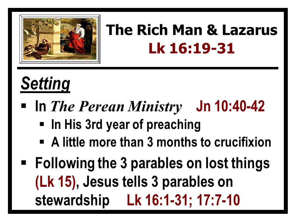 Setting In The Perean Ministry Jn 10:40-42