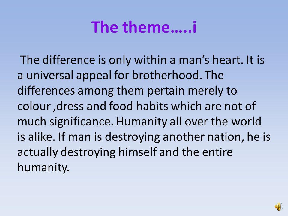The theme…..i