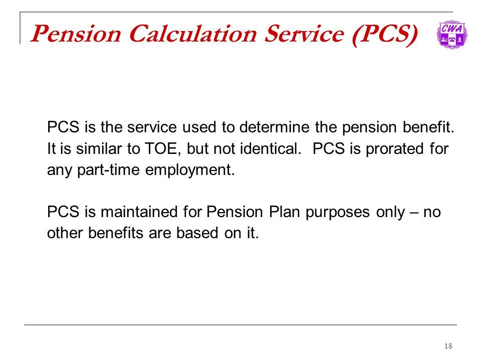 Pension Calculation Service (PCS)