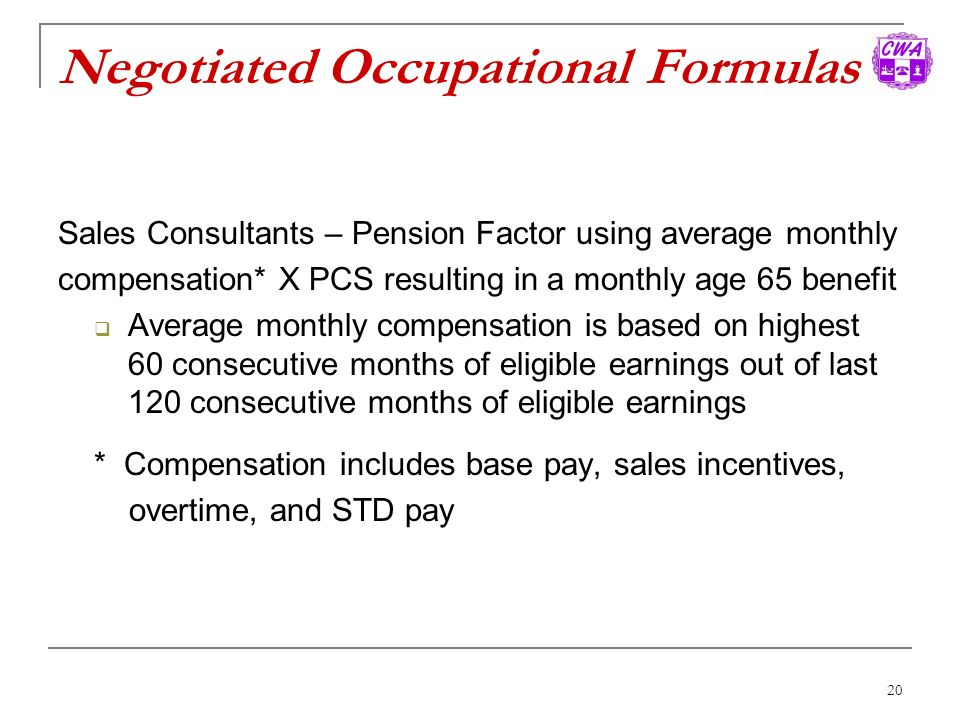 Negotiated Occupational Formulas