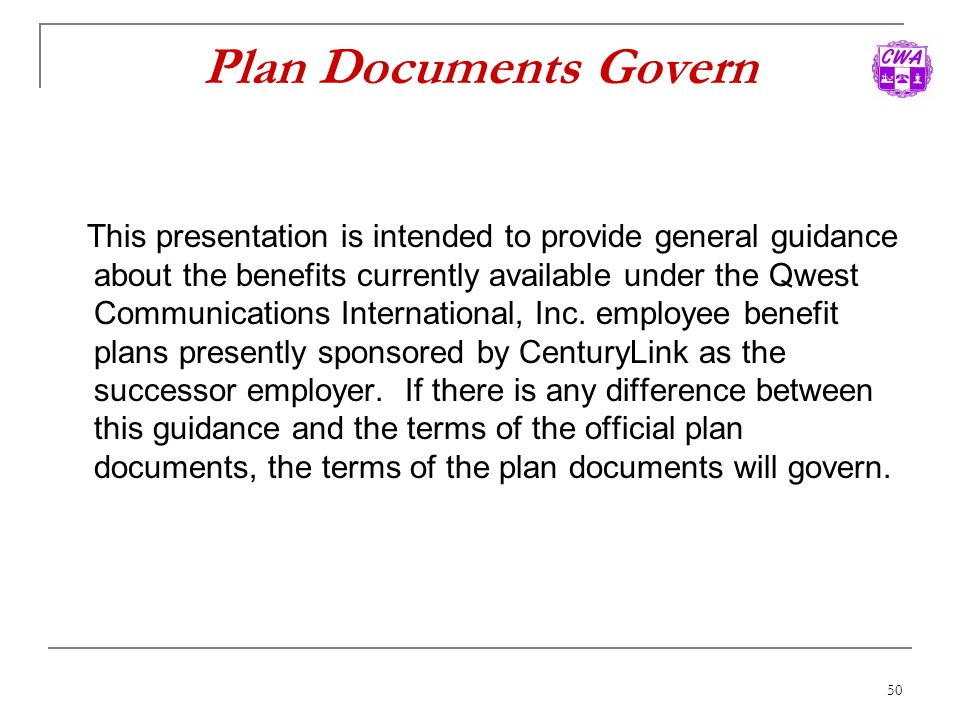 Plan Documents Govern