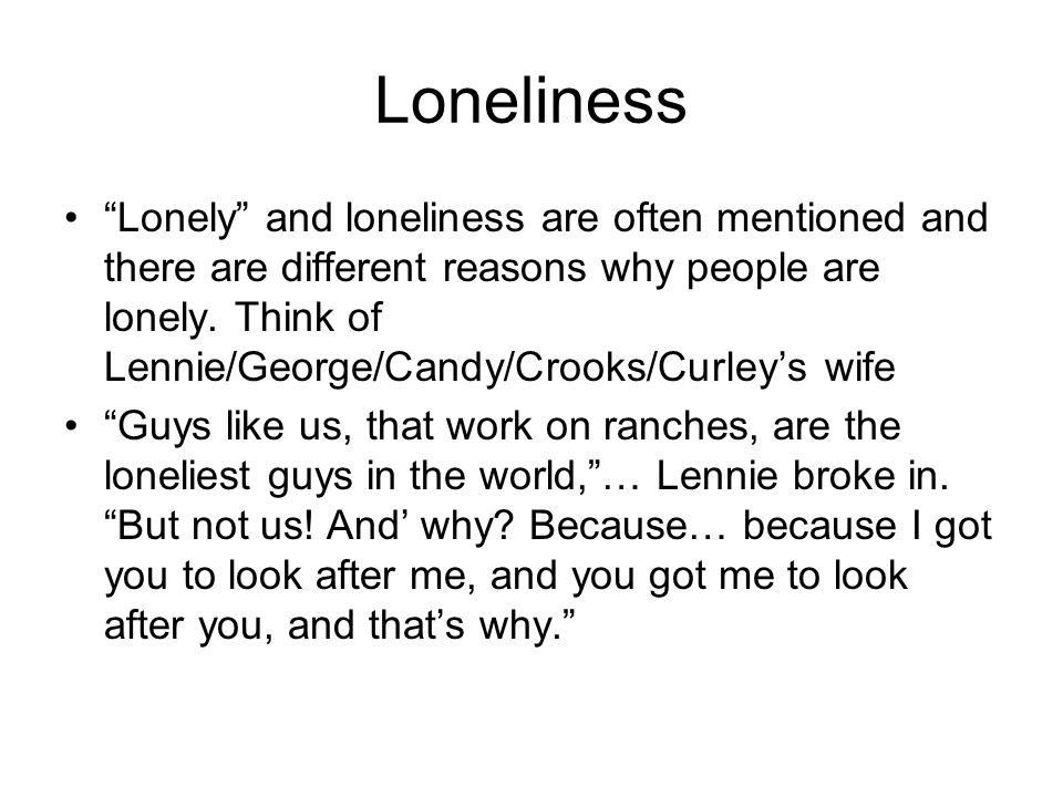 look at george and lennies dream essay Open document below is an essay on the relationship between george and lennie and how it is presented from anti essays, your source for research papers, essays, and term paper examples.
