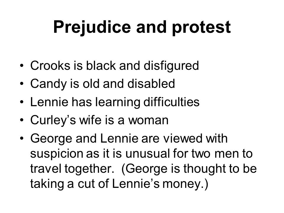Prejudice and protest Crooks is black and disfigured