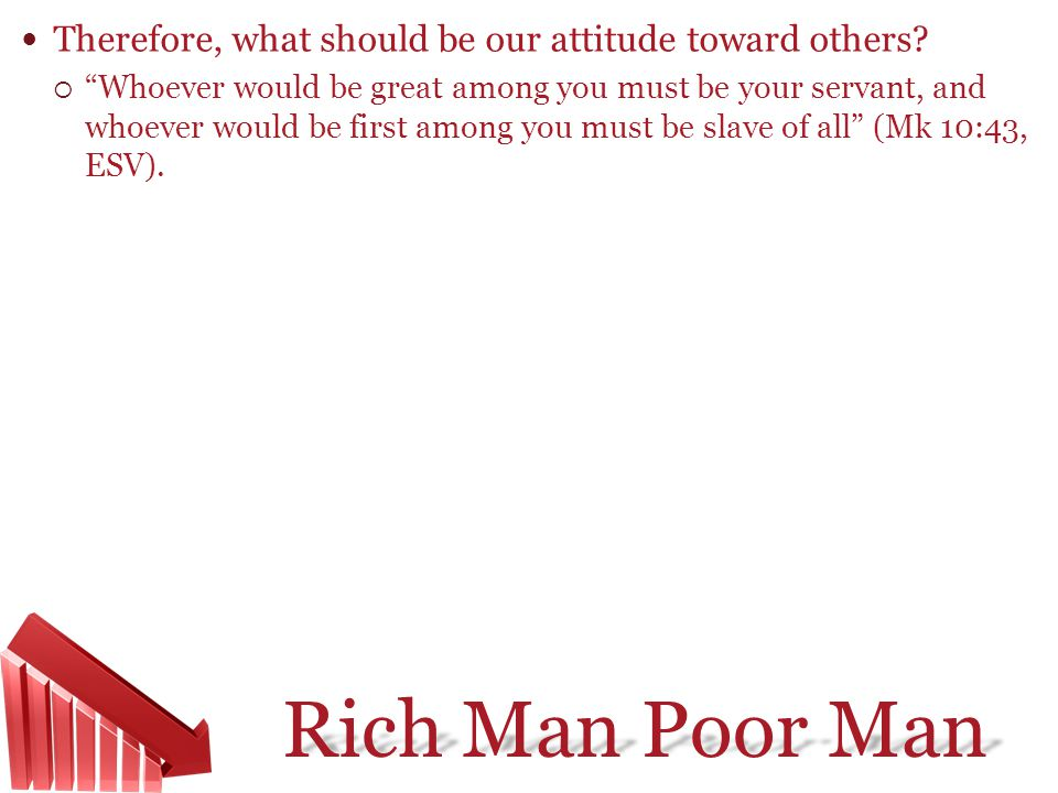 Therefore, what should be our attitude toward others