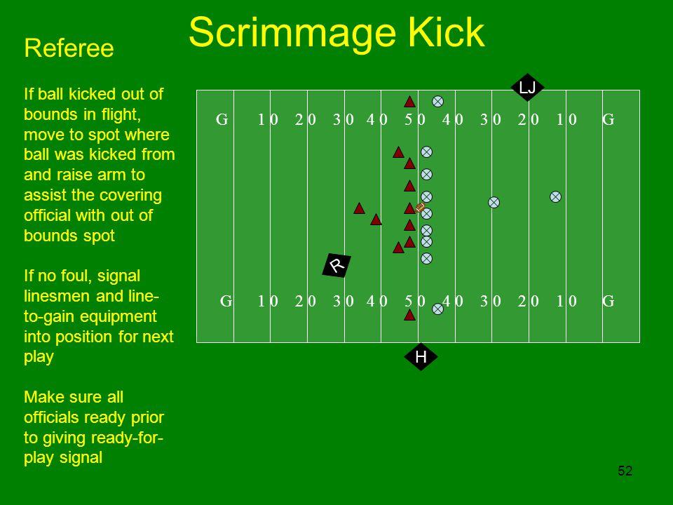 Scrimmage Kick Referee