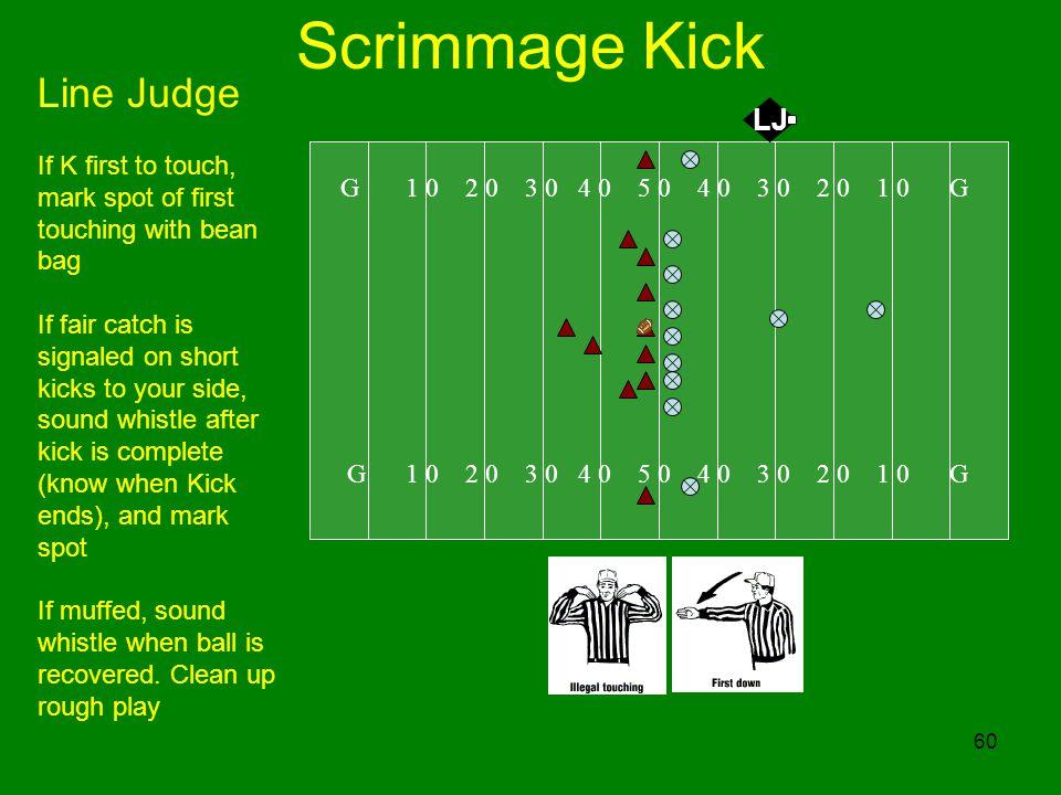 Scrimmage Kick Line Judge LJ